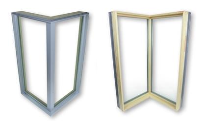 90-degree corner window