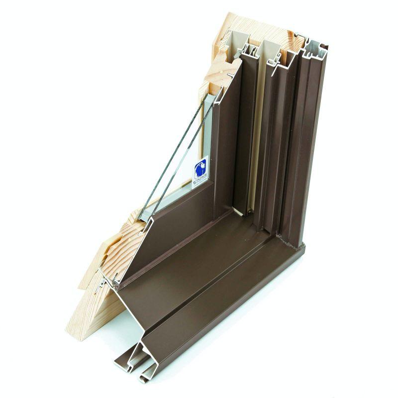 wood aluminium clad
